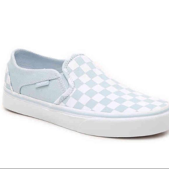 blue checkered vans boys